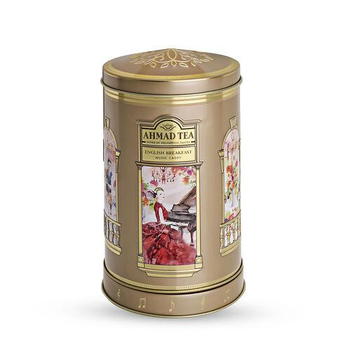 AHMAD TEA English Breakfast Tea with Musical Tea Caddy (100 Gms of Loose Tea)