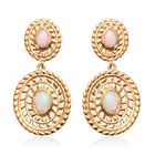 Ethiopian Welo Opal Dangle Earrings (with Push Back) in 14K Gold Overlay Sterling Silver 1.50 Ct, Si