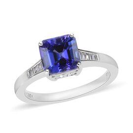 RHAPSODY 2.35 Ct AAAA Tanzanite and Diamond Solitaire Ring in 950 Platinum VS EF