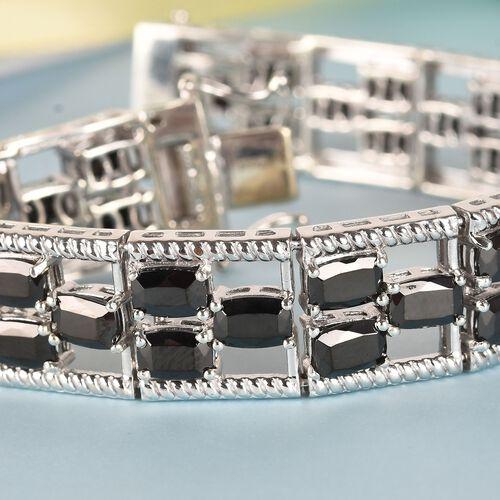 Elite Shungite Bracelet (Size 7) in Platinum Overlay Sterling Silver 14.00 Ct, Silver wt 27.18 Gms