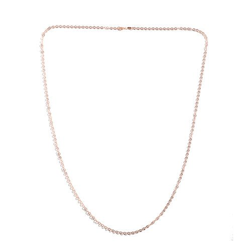 Rose Gold Overlay Sterling Silver Chain (Size 36), Silver wt 5.90 Gms.
