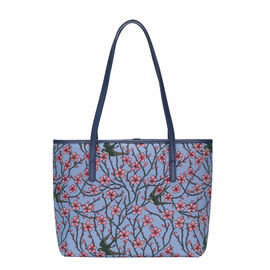SIGNARE V&A COLLECTION - Tapestry Collection - Blossom and Swallow Shoulder Tote Bag ( 33 x 27 x 15 Cms )