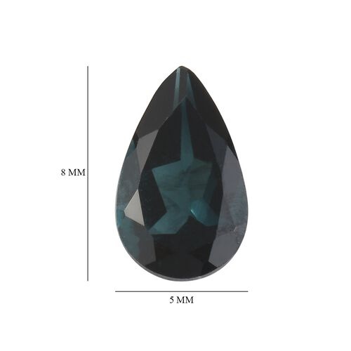AA Indicolite Pear 7.86x4.95x3.44 Faceted 0.60 Cts