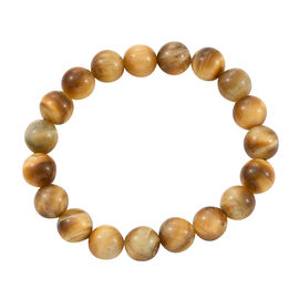 Yellow Tiger Eye Beaded Stretchable Bracelet 7.5 Inch
