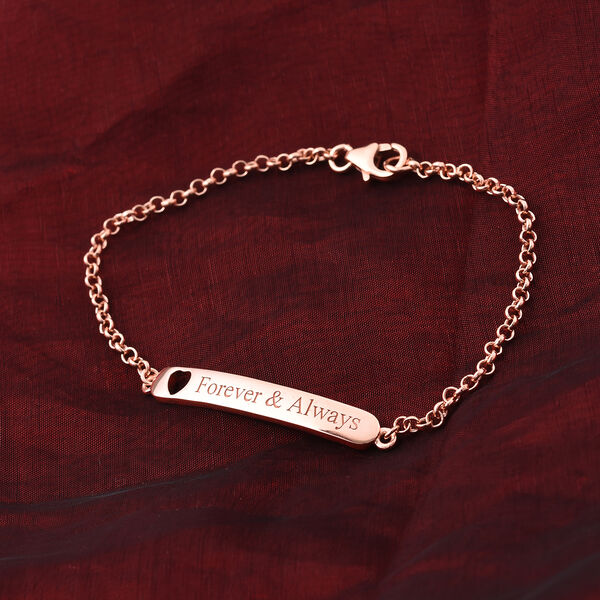 Personalised Engraved Children ID Bracelet Size 6 Inch