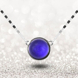 Mood Change Bead Necklace (Size 18 with 3 inch Extender) in Silver Tone
