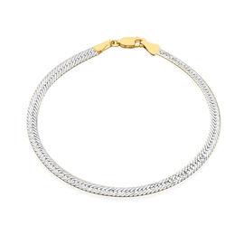 Italian Made 9K Yellow and White Gold Diamond Cut Bracelet (Size 7.5), Gold wt 3.00 Gms.
