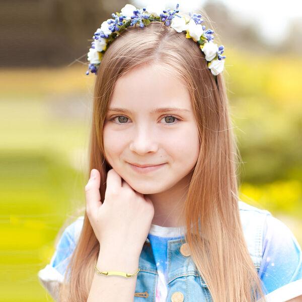9K Yellow Gold Kids Figaro Bracelet (Size 5)