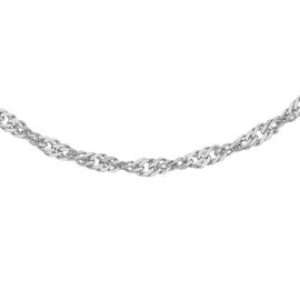 RHAPSODY 950 Platinum Twisted Curb Chain (Size 16), Platinum wt. 3.90 Gms