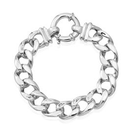 Sterling Silver Curb Bracelet (Size 7.5), Silver wt 23.35 Gms.