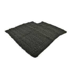 Aran 100% New Woollen Mills Irish Poncho in Moss Colour - One Size (8-18)