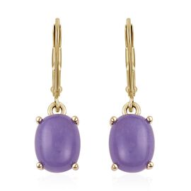 Purple Jade (5.25 Ct) Sterling Silver Earring  5.250  Ct.