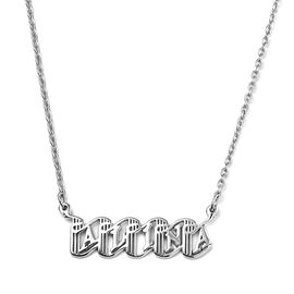 """Personalised Name Necklace in Silver, Font - Bandoneon, Size 18+2"""""""