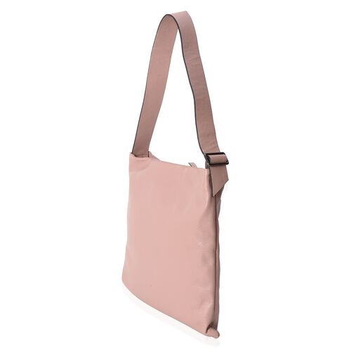 Close Out Deal 100% Genuine Leather Dusky Pink Colour Large Tote Bag with Adjustable Shoulder Strap (Size 39x36x33 Cm)