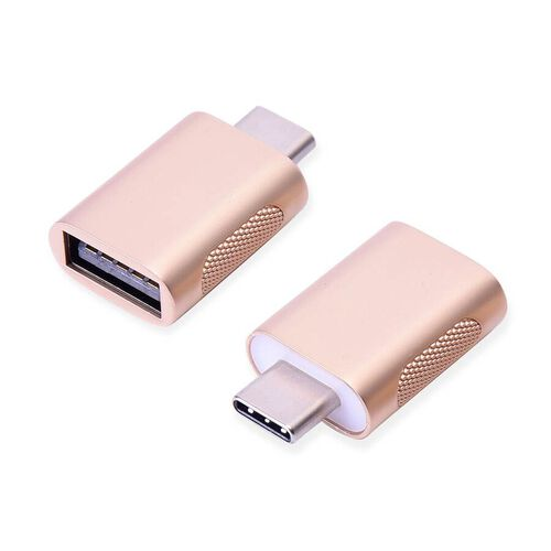 Set of 2 Type-C USB Adapter in Gold Colour