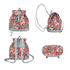 Signare Tapestry - 2 Piece Set - Orchid Floral Design Backpack and FREE Mackintosh Simple Rose Zip C