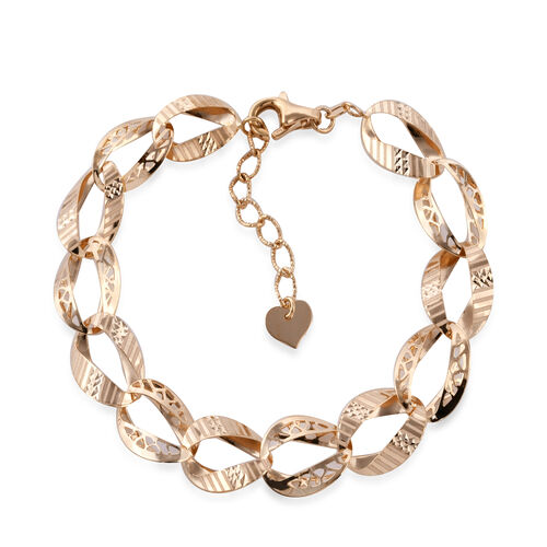 Royal Bali Collection 9K Yellow Gold Curb Link Bracelet (Size 7.5 and 1 inch Extender), Gold wt 5.58