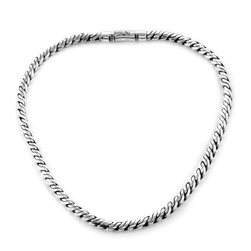 Royal Bali Collection Sterling Silver Necklace (Size 20), Silver Wt: 153.26 Gms.