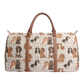 SIGNARE - Tapestry Collection - Cavalier King Charles Weekend Bag (57 x 30 x 29 Cms)