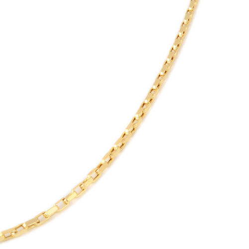 Italian Made- 9K Yellow Gold Oval Belcher Necklace (Size 20), Gold wt 4.22 Gms