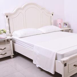OTO - 4 Piece Set - 100% Bamboo Sheet Set Inclds. 1 Flat Sheet (230x265cm), 1 Fitted Sheet (140x190+30cm) & 2 Pillowcases (50x75cm) in White