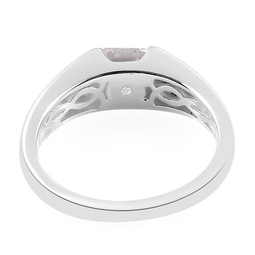 J Francis - Sterling Silver Solitaire Ring Made with SWAROVSKI ZIRCONIA  1.34 Ct.