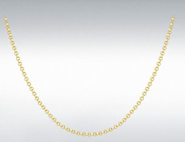 Hatton Garden Close Out- 9K Yellow Gold Belcher Necklace with Lobster Clasp (Size - 20), Gold Wt.3.60 Gms
