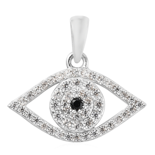 Zircon, Black Spinel Pendant in Platinum Overlay Sterling Silver 0.61 ct  0.718  Ct.