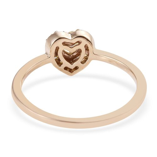 Diamond 9K Y Gold Ring  0.500  Ct.