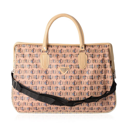 Super Chic Bear Pattern Water Resistant Large Weekend Handbag  with Adjustable and Removable Shoulder Strap ( (Size 47x31x20 Cm)