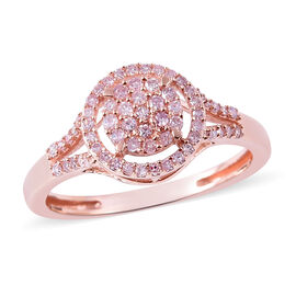 Super Auction - 9K Rose Gold Natural Pink Diamond (Rnd) Ring 0.33 Ct.