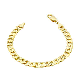 Hatton Garden Close Out- 9K Yellow Gold Curb Bracelet (Size 8),  Gold Wt. 13.01 Gms