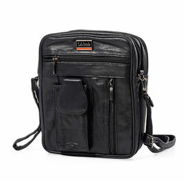 DOD- Close Out Deal - 100% Genuine Leather Crossbody Bag (Size 22x17x8 cm)