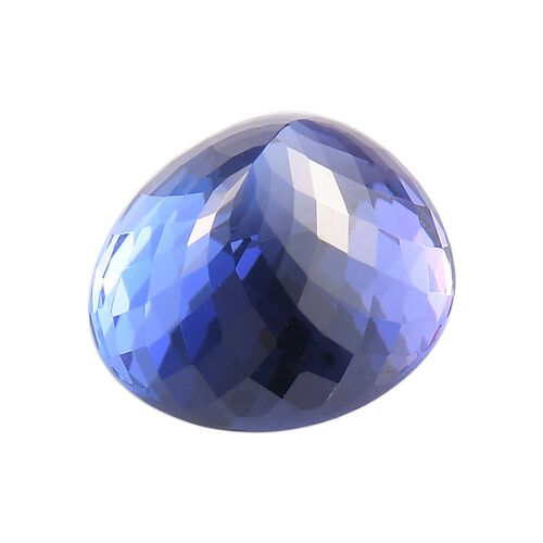 IGI Certified AAAA Tanzanite Oval Mixed Cut 12.76x11.29x8.40mm 8.95Cts