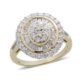 Limited Edition - ILIANA 18K Yellow Gold IGI Certified Diamond (Rnd and Bgt) (SI/G-H) Ring 2.000 Ct, Gold wt. 6.02 Gms.