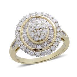 ILIANA 2 Carat Diamond Cluster Ring in 18K Gold 6.02 Grams IGI Certified SI GH