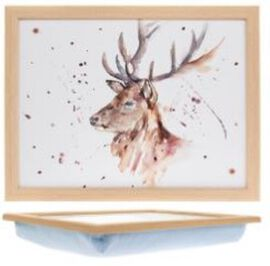 Country Life Stag Laptray with Cushioned Bean Bag (Size 44x34cm)