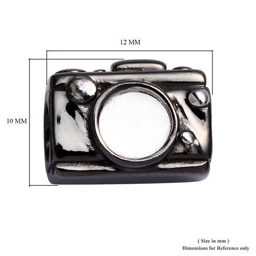 Charmes De Memoire Platinum Overlay Sterling Silver Camera Charm, Silver wt 3.70 Gms
