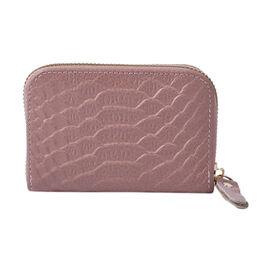 Closeout Deal Genuine Leather Snake Skin Pattern Wallet - Black