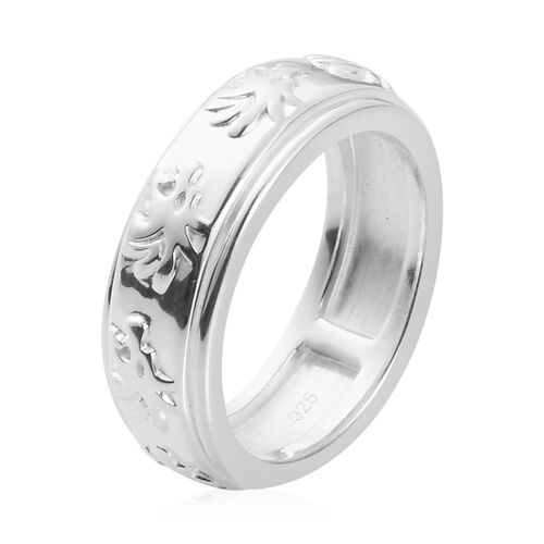 Designer Inspired- Sterling Silver Band Ring, Silver wt. 5.00 Gms