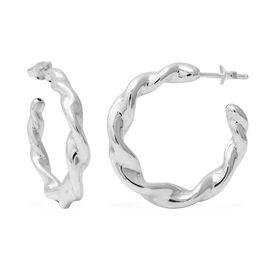 Hoop Earrings in Sterling Silver 5.74 Grams