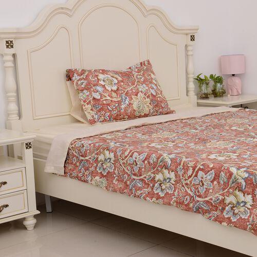 3 Pcs Cream Colour Fitted Sheet (Size 90x190 Cm), Duvet Cover (Size 140x200 Cm) and 1 Pillow Case (S
