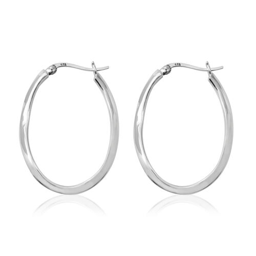 Sterling Silver Hoop Earrings (with Clasp), Silver wt 5.03 Gms.