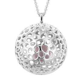 6.7 Ct Brazilian Rose Quartz Globe Design Pendant with Chain in Sterling Silver