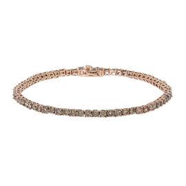 9K Rose Gold SGL Certified Natural Champagne / I3  Diamond Bracelet (Size - 7.5) 5.40 Ct, Gold wt 6.