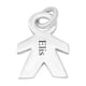 Personalised Engravable Boy Pendant in Silver