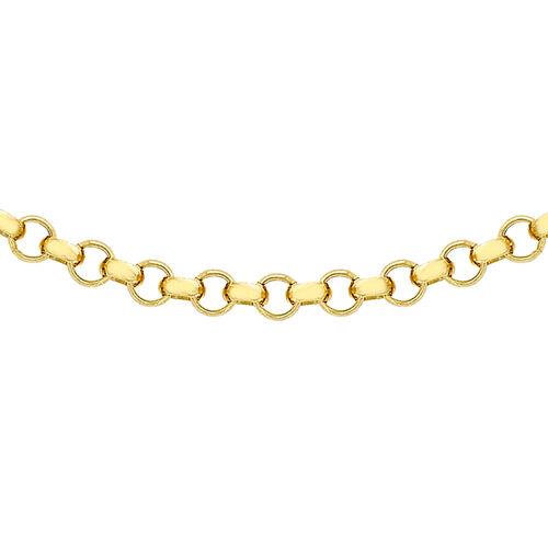Hatton Garden Close Out 9K Yellow Gold Belcher Necklace (Size 20)