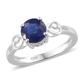 One Time Deal- Masoala Sapphire (Rnd 7mm) Ring in Sterling Silver 1.75 Ct.