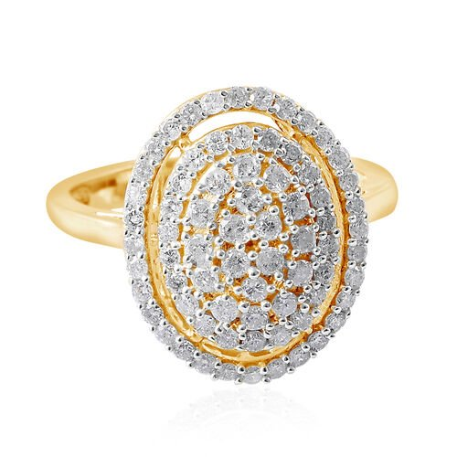 9K Yellow Gold SGL Certified Diamond (Rnd) Ring 1.00 Ct.