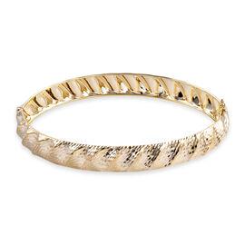 Royal Bali Collection 9K Yellow Diamond Cut Gold Bangle Small (Size 7), Gold wt 5.19 Gms